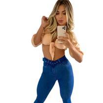 calça skinny modeladora com cinto - Loyal Denim