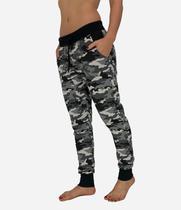 Calça Slim Moletom Camuflada Cinza Feminina - Produto nacional 000127a867e03