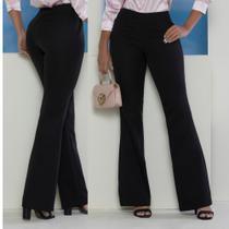 calça social feminina preta ideal trabalho MULHER BRASIL -