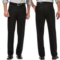 Calça Social Masculina Preta Tradicional Oxford Premium Tamanho 42 Direto de Fabrica - Hook Classic