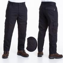 Calça tática masculina preta rip stop 42 reforçada - Forca Tatica