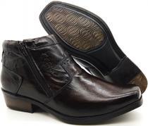 Calçado Bota Masculina Em Couro Kéffor Cor Café Linha Arizona Country -
