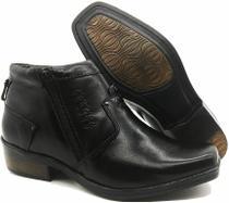Calçado Masculino Bota Em Couro Kéffor Preto Linha Arizona Country -