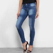 Calças Jeans Chocomenta Skinny Estonada Feminina -