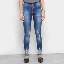 Calças Jeans Skinny Razon Puídos Feminino -