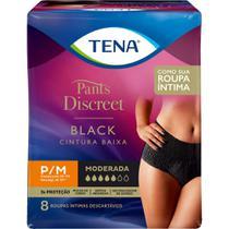 Calcinha Descartável Tena Pants Discreet Black P/M 8 unidades -
