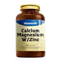 CÁLCIO + MAGNÉSIO + ZINCO (120 CÁPSULAS) - Vitaminlife -