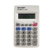 Calculadora Básica 8 Dígitos EL233SBK - Sharp -