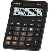 Calculadora Casio MX-12B Preta 12 Dígitos De Mesa Visor Extra Grande Digitação Simultânea de Teclas -