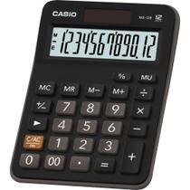 Calculadora Casio MX-12B Preta 12 Dígitos De Mesa Visor Extra Grande Digitação Simultânea MX12B -