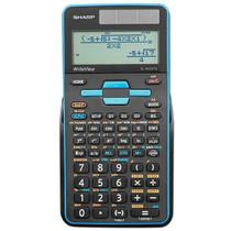 Calculadora Científica Sharp EL-W535TGB-BL com 422 Funções - Preta/Azul -