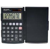 Calculadora Com Tampa EL376SBK Sharp -