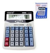Calculadora Comercial De Mesa 8 Dígitos Display Visor Grande - Yins