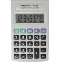 Calculadora de Bolso 8 Digitos Cinza PC082 1 UN Procalc -
