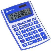Calculadora De Mesa 12 Dígitos Com Alimentação Solar Ou A Pilha CM30-12 Branca/azul - Vinik