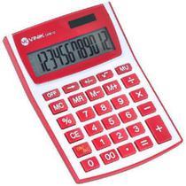 Calculadora de Mesa 12 Digitos com Alimentacao Solar ou a Pilha - CM30 BRANCA/VERMELHO - Vinik -