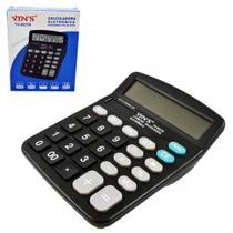 Calculadora de mesa 12 digitos preta - Yins