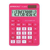 Calculadora de Mesa 12 Digitos Rosa PC286PK Procalc -
