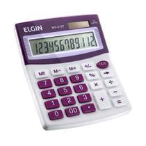 Calculadora de mesa 12 digitos roxa elgin mv4127 -