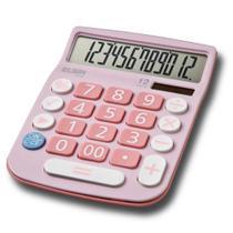 Calculadora de Mesa de 12 dígitos Rosa MV-4130 - Elgin -