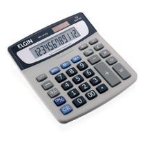 Calculadora de Mesa Elgin Visor 12-Digitos Solar/Bateria - 42mv41230000 -
