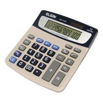 Calculadora De Mesa Solar Elgin Mv4123 Cinza -