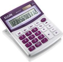 Calculadora de Mesa Visor - Alimentaaao Solar e Bateria - Blister MV4127 Roxa - Elgin