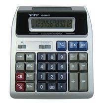 Calculadora Eletrônica 12 Dígitos com Display Duplo 18X15,5CM - Yins