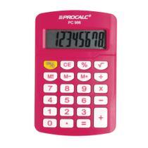 Calculadora Pessoal Procalc PC986-P 8 Digitos PINK -