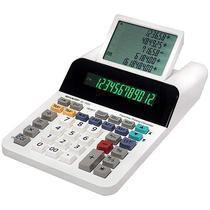 Calculadora Sharp EL-1501 de 12 Digitos Display de 5 Linhas A Pilha - Branca -