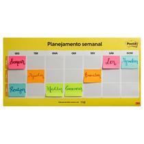 Calendário Semanal Post-It - com 2 blocos - CD0347 - 3M -