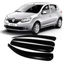 Calha Acrilica Chuva Renault Sandero 2014 a 2020 - 4 Portas - Ecoflex
