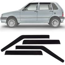Calha de Chuva Esportiva Fiat Uno Fire 2001 Até 2013 4 Portas Fumê - Ecoflex