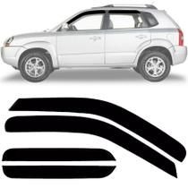 Calha de Chuva Esportiva Hyundai Tucson 2004 Até 2016 Fumê - Ecoflex