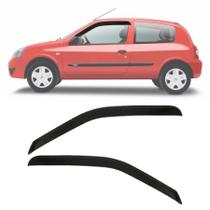 Calha de Chuva Esportiva Renault Clio Fase 2 2000 Até 2016 2 Portas Fumê - Ecoflex