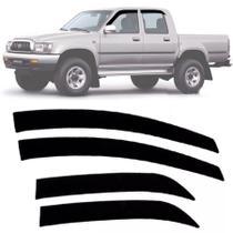Calha de Chuva Esportiva Toyota Hilux Cabine Dupla 1997 98 99 00 01 02 03 04 Fumê - Ecoflex
