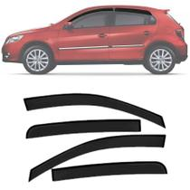 Calha de Chuva Esportiva Volkswagen Gol Voyage G5 G6 2012 Até 2019 4 Portas Fumê - Ecoflex
