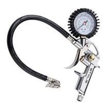 Calibrador de Pneus Manual 220 Libras com Manômetro - Inflar - Esvaziar - Medir Pressão STELS -