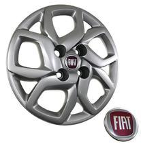 Calota Aro 14 Fiat Mobi Argo Palio Siena Uno / Grid 291CB cor prata -