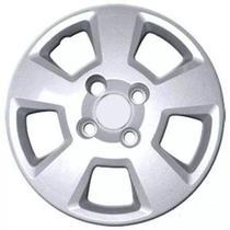 Calota Aro 14 Ford Fiesta Hatch 2008 À 2012 Grid Prata Fixação por Parafuso - Grid calotas