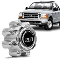 Calota Central Ford F250 1999 a 2011 F350 1999 a 2011 Centro de Roda Cromado - Emblemax