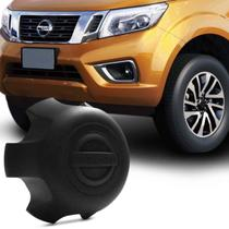 Calota Centro de Roda Nissan Frontier 97 a 18 Xterra 02 a 08 Preta Emblema Fixação Por Encaixe - Emblemax