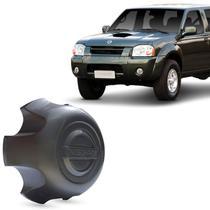 Calota Centro de Roda Nissan Frontier Xterra 2002 a 2007 Grafite com Emblema Fixação Por Encaixe - Emblemax