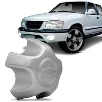 Calota Centro Miolo de Roda Aro 15 e 16 Chevrolet S10 99 a 01 Blazer 99 a 01 Prata Furação 5x120 - Emblemax