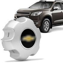 Calota Centro Miolo de Roda Aro 16 Chevrolet S10 LTZ e LT 2012 a 2014 Prata Fechada Furação 6x139 - Emblemax