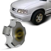 Calota Centro Miolo de Roda Chevrolet S10 Blazer 1995 a 1997 Cromado com Emblema Fixação por Encaixe - Emblemax