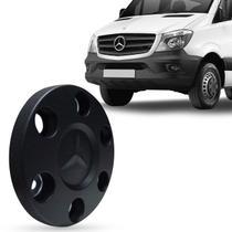 Calota Centro Miolo de Roda Mercedes-Benz Sprinter 515 2012 a 2018 Preto 5 Furos com Emblema - Emblemax