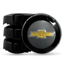 Calota Centro Miolo De Roda Trooper Preto para roda GM Aro 14/15 - Chevrolet