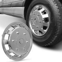 Calota Esportiva Aro 16 Universal Para Vans Cromado Capa de Roda Fixação Por Presilhas - Nk Brasil