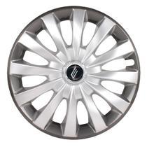 "Calota Universal modelo Flap Aro 13"" Silver/Graphite Parafuso - Elitte"